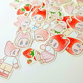 whoyue - Strawberry Kids Sticker set