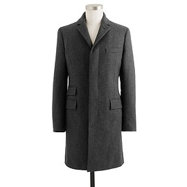 J.CREW - Mayfair topcoat in English wool herringbone