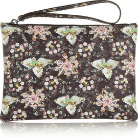 Mary Katrantzou - Jewel-print leather pouch