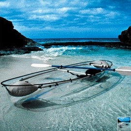 Hammacher Schlemmer - The Transparent Canoe Kayak