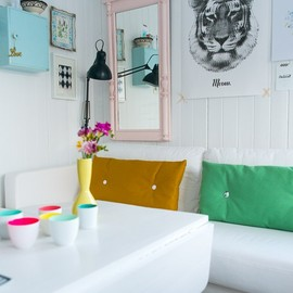 home in bright colors