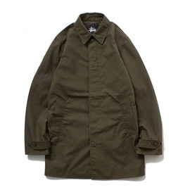 Stussy, The British Millerain Co. - Waxed Soutien Coller Coat - Olive