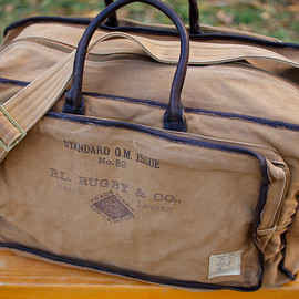 RUGBY RALPH LAUREN - Canvas & Leather Weekender Bag