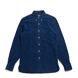 RRL - Indigo Cotton Oxford Shirt-Rinse Blue