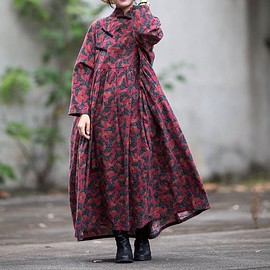 Loose Fitting dresses, Vintage dress - Women long sleeved dress, Oversized Loose Fitting dresses