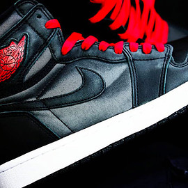 Jordan Brand, NIKE - Air Jordan 1 Retro Hi OG - Black Satin
