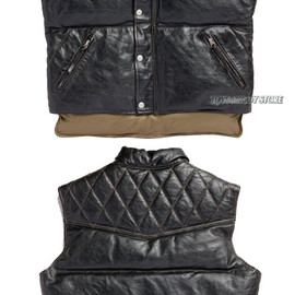 TOYS McCOY - BECK LEATHER DOWN VEST