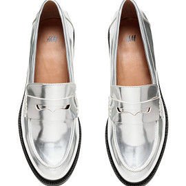 H&M - silver loafers