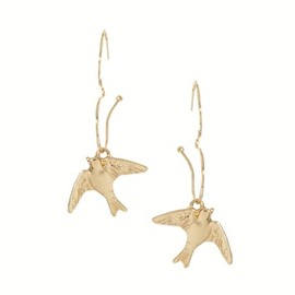 ASOS -  ASOS Open Heart and Swallow Earrings