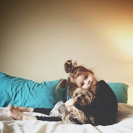 Little Girl & Her Dog