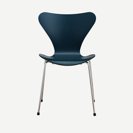 Fritz Hansen - SERIES 7 CHAIR COLORD ASH PETROLE BLUE