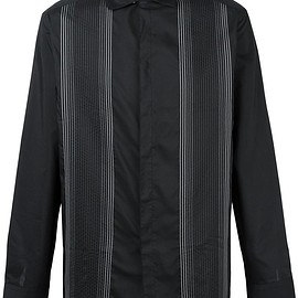 Lanvin - embroidered stripe shirt