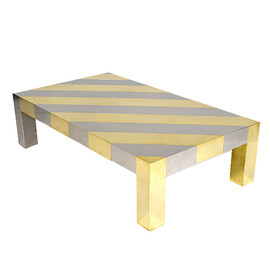 Gabriella Crespi - Chrome and Brass Centre Table
