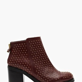 TBA - Carbon Studded Boot in Oxblood