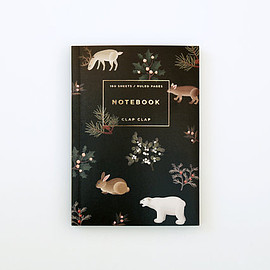 Clap Clap - Wild Animals Notebook - Black