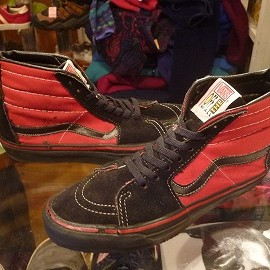 "vans - 「<used>90s vans SK-8 HI black/red""made in USA"" size:US9(27cm) 6800yen」完売"
