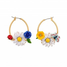 Les Nereides - レ・ネレイド(Les Nereides)レ・ネレイド 2013/SS新作■■Les Nereides■■CHAMPÊTRE HOOP EARRINGS FLOWERS AND LADYBUG 1
