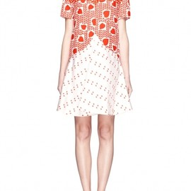 Stella McCartney - Hearts print flounce dress