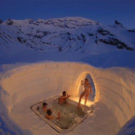 IGLU-DORF Snow Igloo Hotels - Outdoor Jacuzzi
