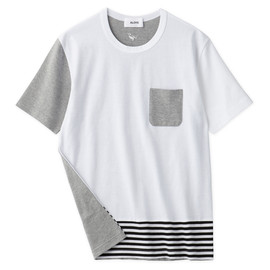 Aloye - Dots & Stripes #1 / Short-Sleeve Pocket T-Shirt