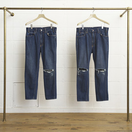 UNUSED - two holes knee denim
