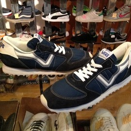 "vans - 「<used>80's vans Serio navy/white/silver""made in USA"" size:US13(31cm) 9800yen」販売中"