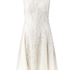 NINA RICCI - Sheer back lace dress