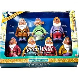VINTAGE - Vintage 1992 Snow White and the Seven Dwarfs Gift Set Color Change Characters