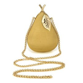 ANYA HINDMARCH - PEAR  MOIRE IN MUSTARD