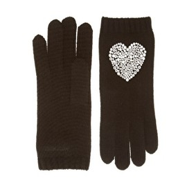 MOSCHINO - Crystal Heart Gloves