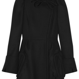 miu miu - Puff-sleeved wool coat