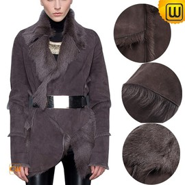 CWMALLS - Shearling Fur Coat for Women CW614084