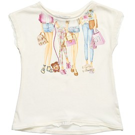 Mayoral - Girls White Cotton Jersey T-Shirt