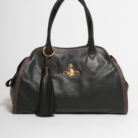 Vivienne Westwood - Dolce Leather Tassel Bag in Black