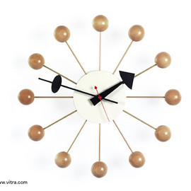 Vitra Nelson Ball Clock Brass by George Nelson