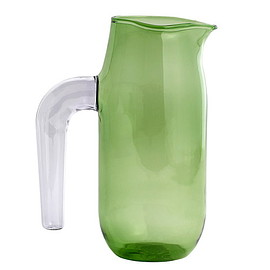 HAY - Hay Jug with lilac handle, L, green