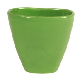 rice - Oval Tea Cup in Solid Naughty Green