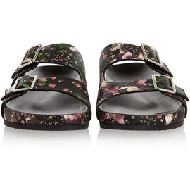 GIVENCHY - Froral Print Nappa Leather Sandals