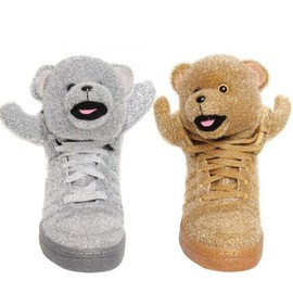 adidas originals - ADIDAS ORIGINALS BY JEREMY SCOTT ADIBEAR SILVER & GOLD