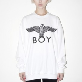BOY LONDON - BOY EAGLE SWEAT - White