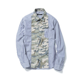 SOPHNET. - CAMOUFLAGE CENTER PANEL REGULAR COLLAR SHIRT