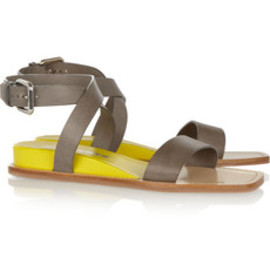 JIL SANDER - Contrast leather sandals