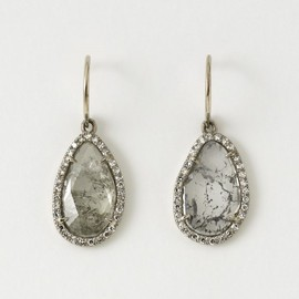 WILLIAM WELSTEAD - Flat Diamond Earrings