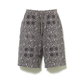 White Mountaineering - FLOWER PATTERN JACQUARD WIDE EASY SHORT PANTS