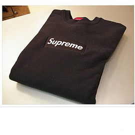 Supreme - box logo sweat bk