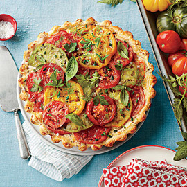 Southern Living Magazine - トマトパイ  Tomato, Cheddar, and Bacon Pie