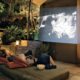 Judy Cameon - Outdoor Garden with Movie screen, LA