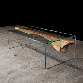 John Houshmand - Spalted Maple Glass Fold Table
