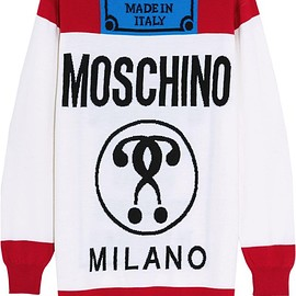 Moschino - Oversized intarsia wool sweater