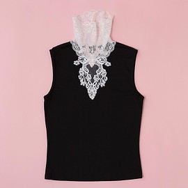 overlace - lace high-necked tops